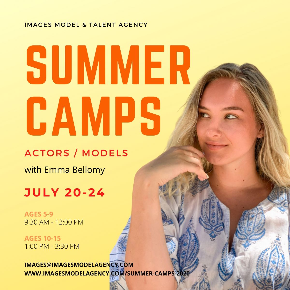 modeling and acting camp
